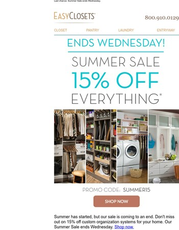 Final days of our Summer Sale