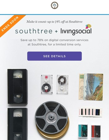 Shhh. Southtree's on LivingSocial (up to 78% OFF!)