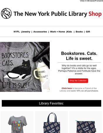 Books and cats and books and cats and books...