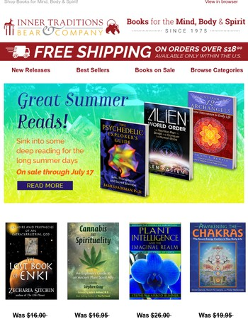 Up to 30% OFF Great Summer Reads from Inner Traditions