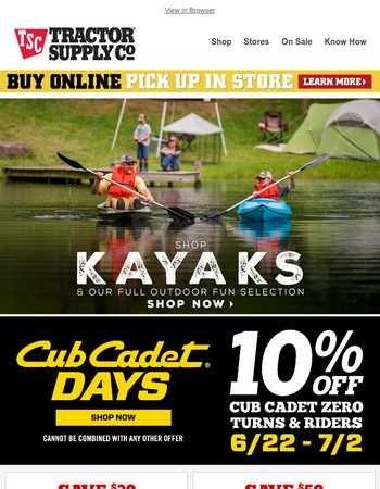 Dive into summer Out Here with deals on outdoor fun