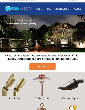 Illuminate Your Backyard With FX Luminaire Landscape Lighting