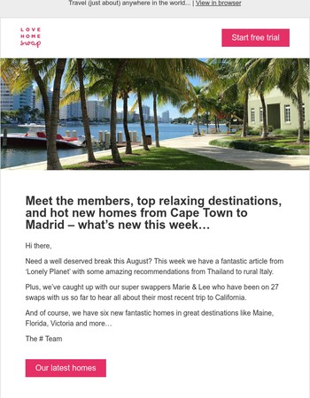 Panoramic penthouses, beautiful beach homes and hot destinations from Madrid to Florida