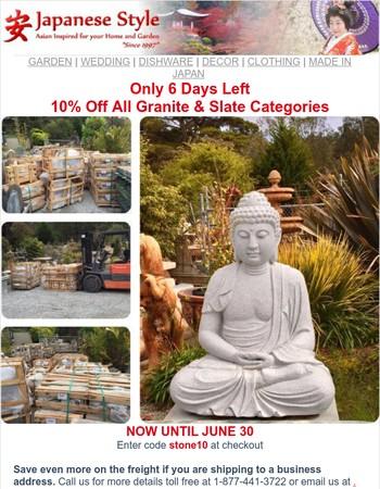 6 Days Left 10% Off Granite & Slate