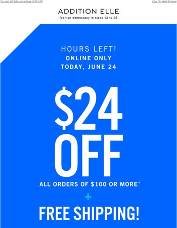 Still time to SAVE!