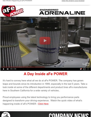 What's New at aFe POWER? Take A Look Inside..