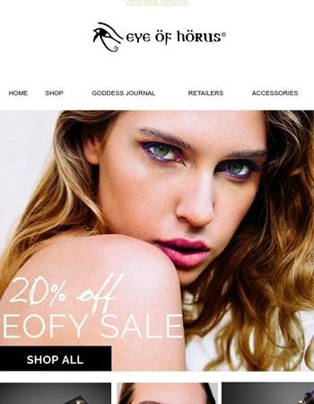 Eye of Horus Cosmetics | 20% off SALE