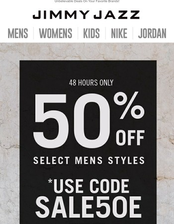 It's True! 50% OFF For 48 Hours