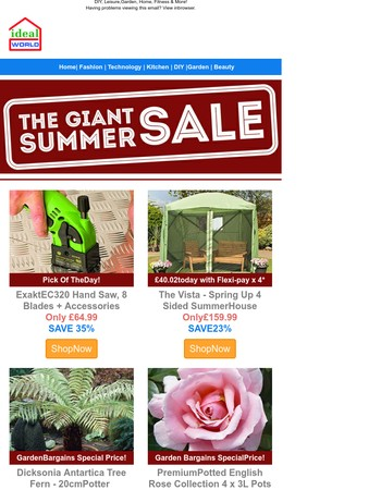 Don't miss Sunday's Giant Summer Sale deals - Up to 70% off!