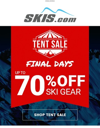 Last Chance! | Save Up To 70% OFF Ski Gear