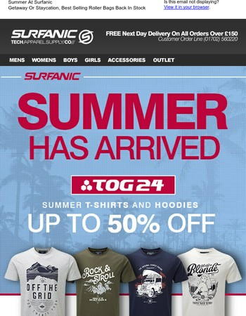 Summer At Surfanic - Tog24 Hoodies and Tees Up To 50% Off