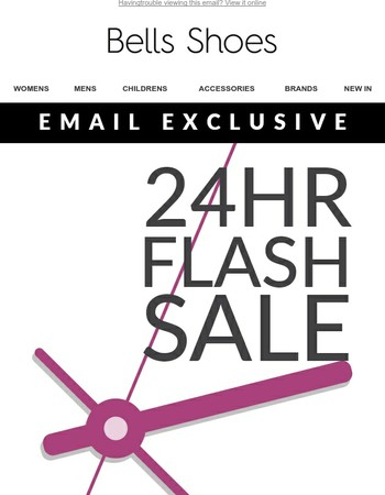20% Off Site Wide for 24 Hours Only - Email Exclusive