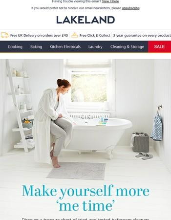 Turn boring scrub-time into relaxing tub-time