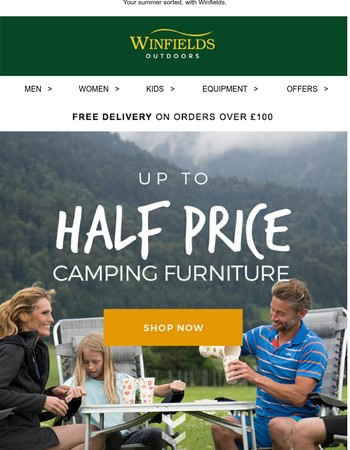 Camping Furniture Now Up To Half Price!