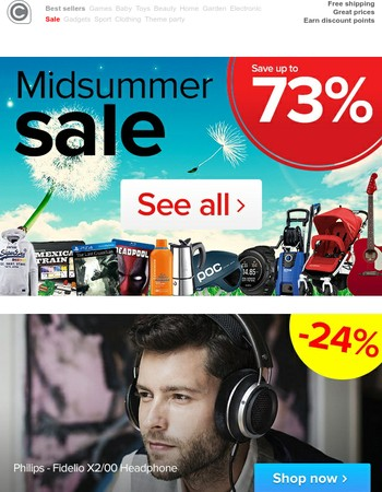 Midsummer sale! Enjoy the sun a little more with some great discounts!
