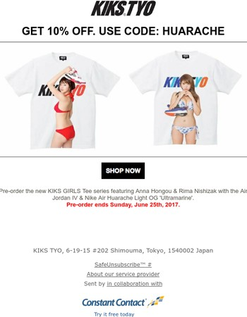 Ends Today! Pre-order New KIKS GIRLS Tees Now