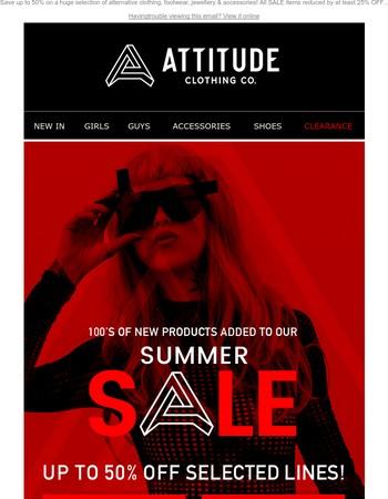 Attitude Clothing Newsletter