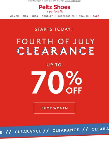 ✨PRE FOURTH OF JULY CLEARANCE (Up to 70% off!)