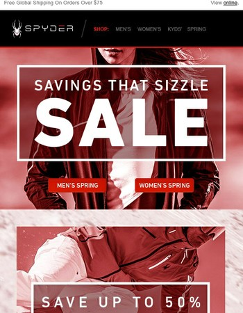 Sizzling Savings on Winter and Spring Product