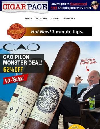 Pilin' on: CAO Pilon $2.50 a stick shipped free. That's 62% off.