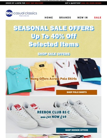 Limited Sale Up To 40% Off including Adidas