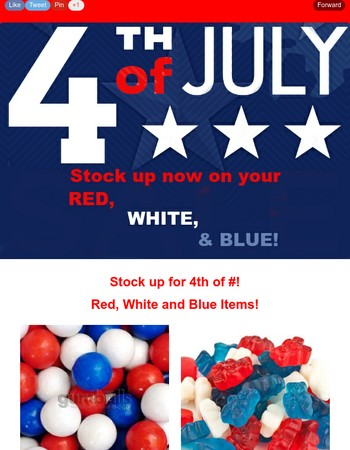 Stock Up Now For the Fourth!