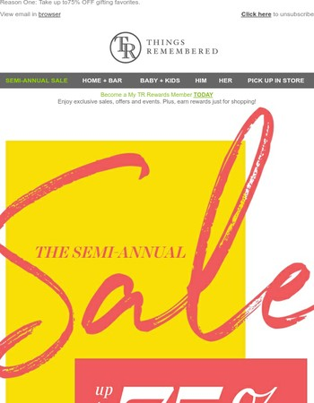 600+ Reasons To Be Excited: Our Semi-Annual Sale