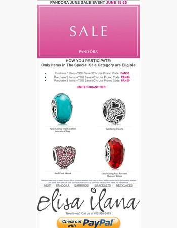 Final Day! Pandora Sale, Don't miss this opportunity!