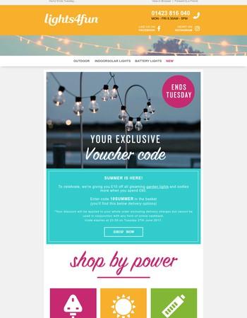 Voucher code! £10 off your next order