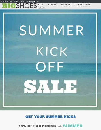 Summer Starts Now: Everything, Is. On. Sale.