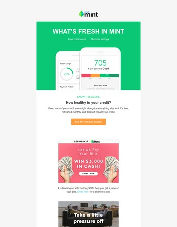 What's fresh: your credit score, summer savings & more