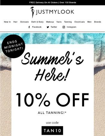 Summer Sale ends midnight TONIGHT☀️