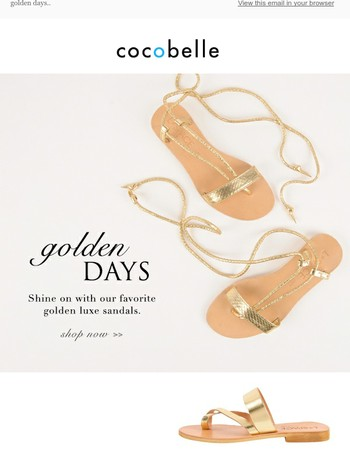 Shine On | Golden Luxe Sandals