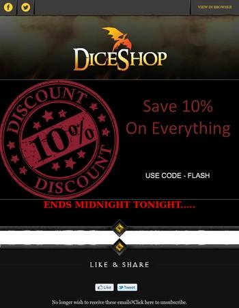 Dice Discount - LAST FEW HOURS!