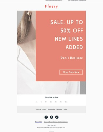 Sale: Up To 50% Off | New Lines Added