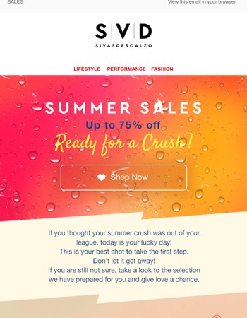 Get ready for a sales crush!