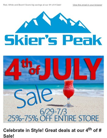 Red, White and Boom! Score big savings at our 4th of July Sale!