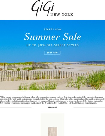 Summer Sale Starts Now - Up to 50% Off