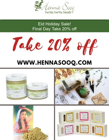 Final Hours to Save 20%