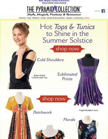 Happy Romantic Summer ~ Tops & Tunics Just for You!