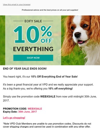 10% Off Everything EOFY SALE Ends Soon!