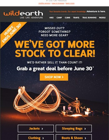 EOFY Clearance > Last days > Don't miss out!