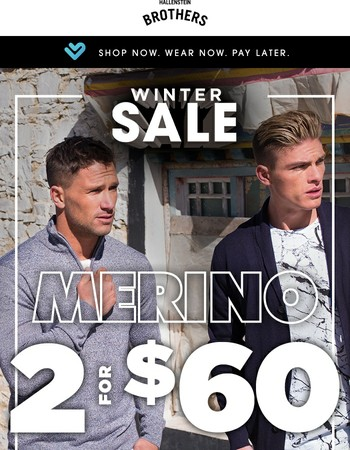 SALE Continues With Winter Warmers 2 for $60!
