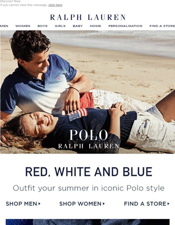 Iconic Polo Styles in Red, White, and Blue