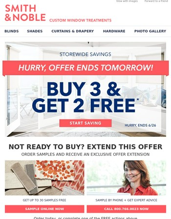 Hurry, Buy 3 Get 2 Free Ends Soon!
