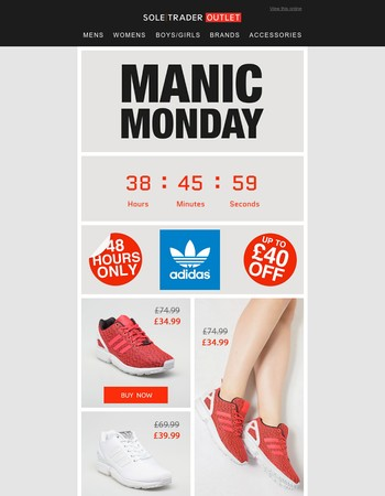 Flash adidas discount for 48hrs only