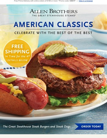 Free Delivery Offer: Celebrate the 4th with USDA Prime