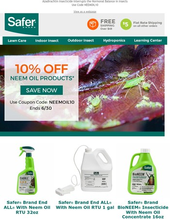 10% Off Neem Oil Products Now Through Friday!
