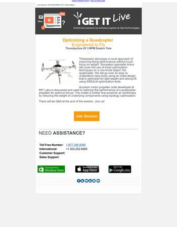 iGETIT Live Screencast: Optimizing a Quadcopter