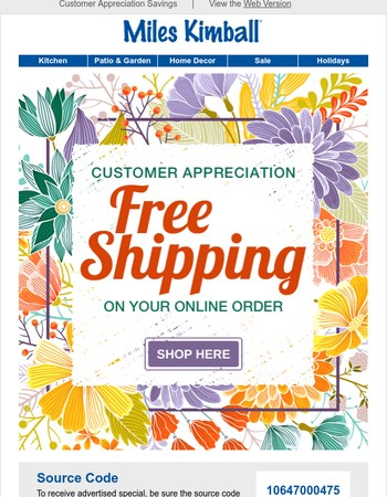 Just For You! Enjoy Free Shipping!
